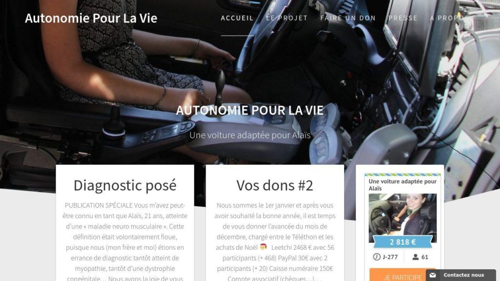 Autonomie pour la Vie - Une voiture adaptée pour Alais.