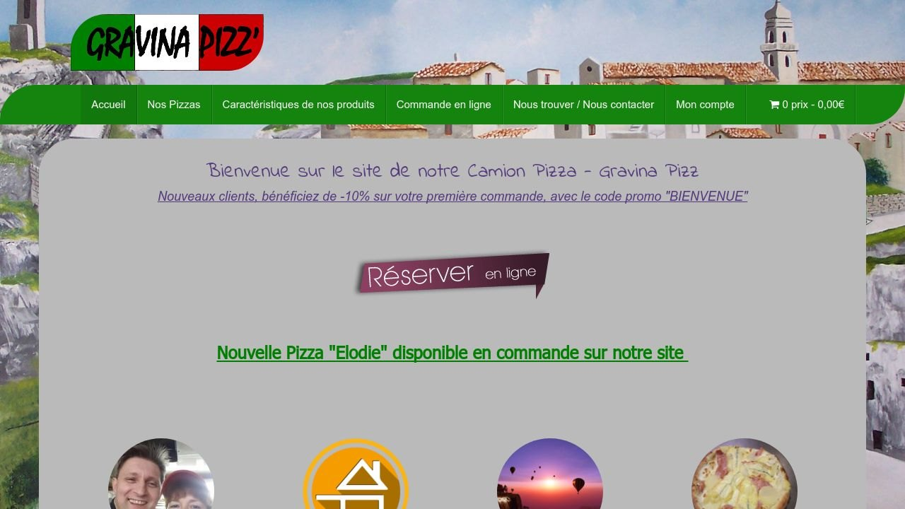 Gravina Pizz, le premier camion Pizza ambulant avec commande en ligne.