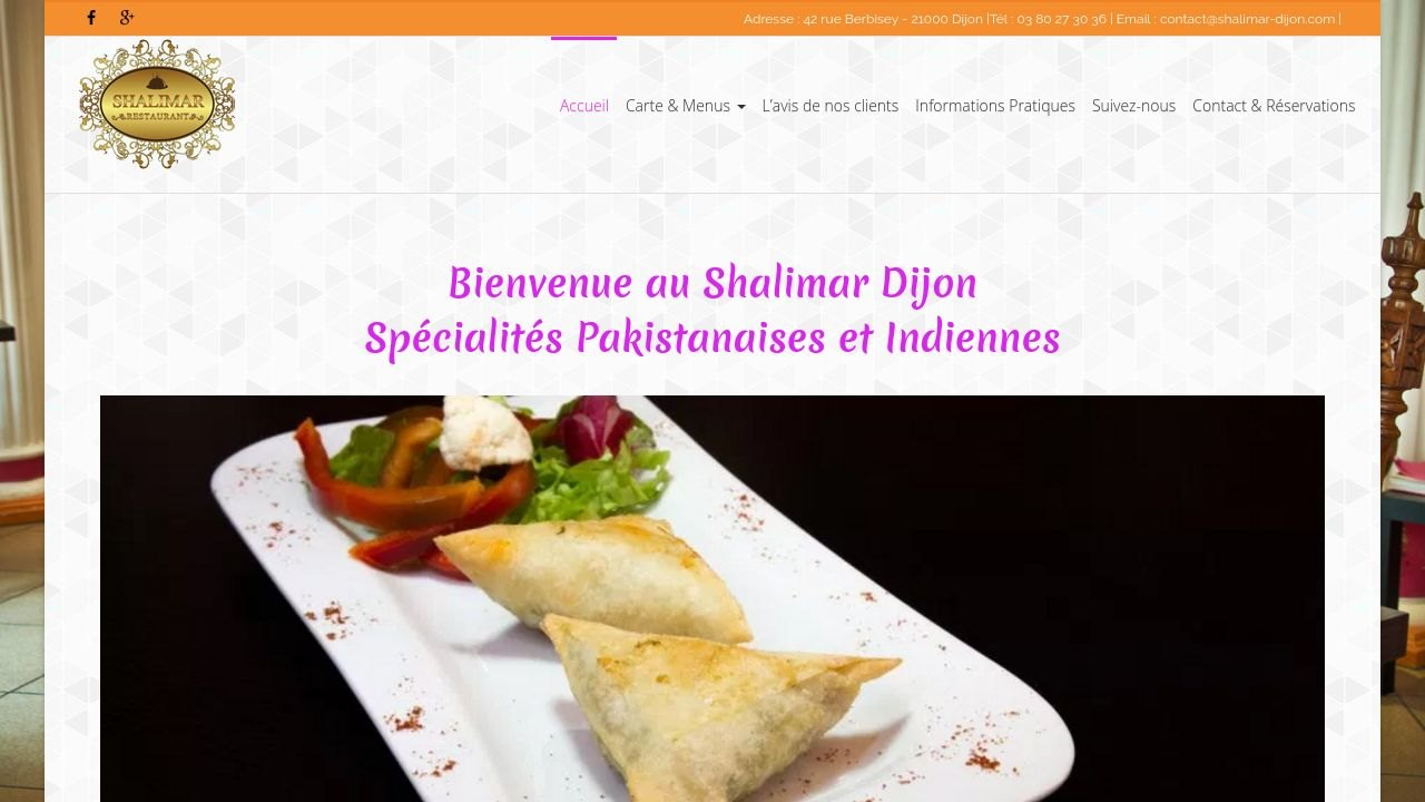 Restaurant Shalimar, 42 rue Berbisey, 21000 Dijon
