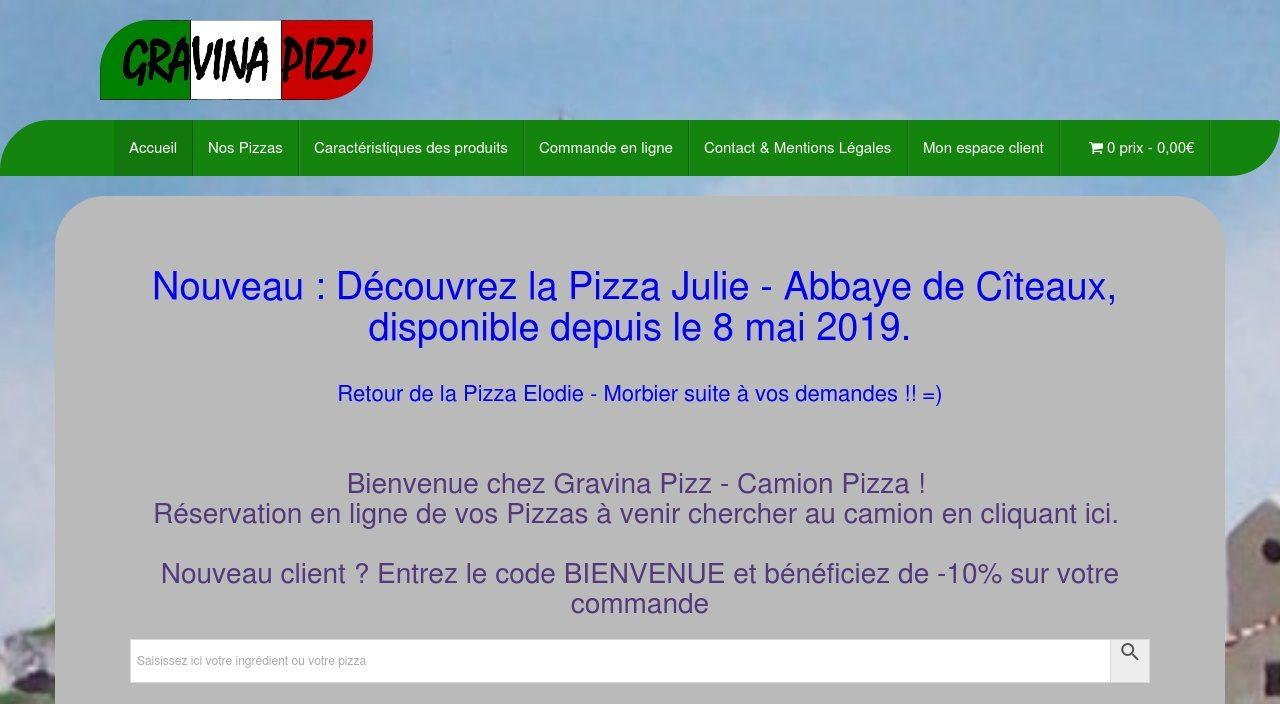 Gravina Pizz - Le 1er Camion pizza Ambulant avec commande en ligne.