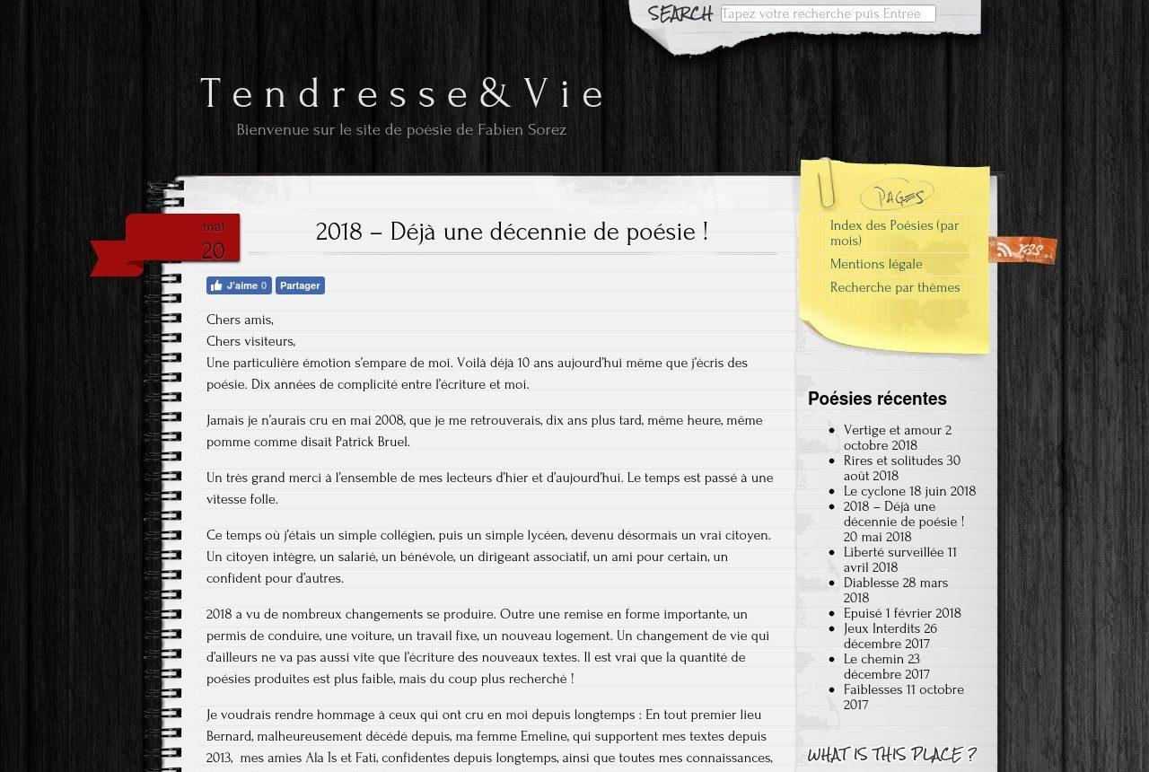 Mespoesies.fr - Site de Poésie de Fabien Sorez <br> Gérant de Digital Informatique Services 21