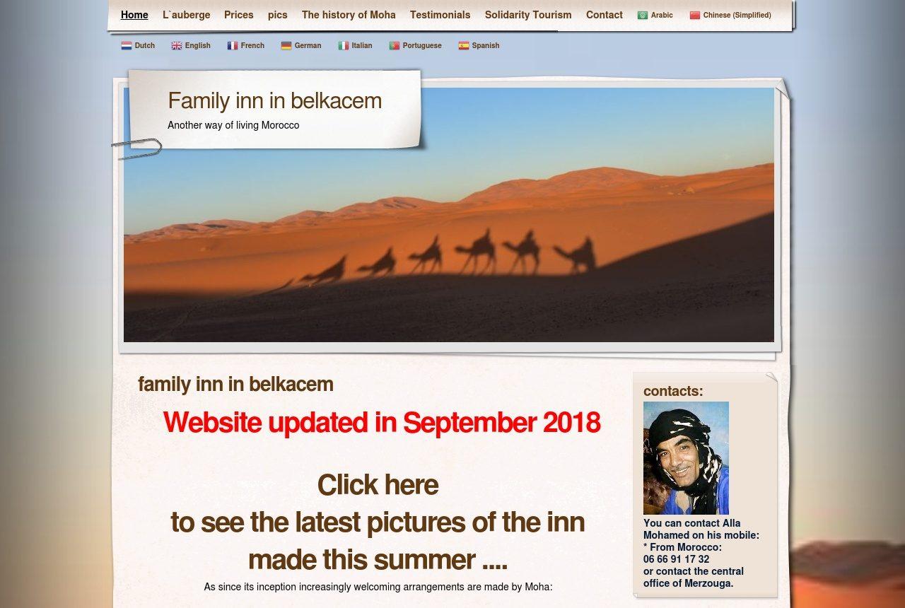 L'auberge Belkacem à Merzouga - Maroc